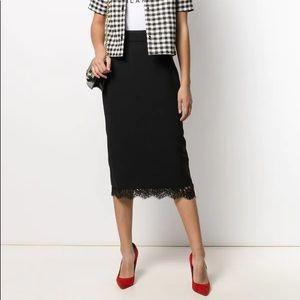 NWT Dolce & Gabanna Basket Weave Midi Pencil Skirt